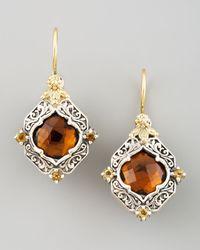 Konstantino | Metallic Ilios Diamond Shaped Earrings | Lyst