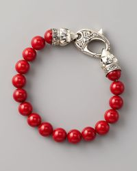 Stephen Webster | Metallic Red Coral Bead Bracelet 10mm | Lyst