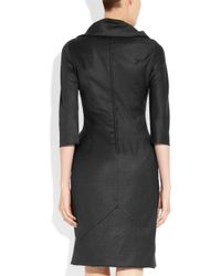 Vivienne Westwood Red Label - Gray Ruched Woolblend Dress - Lyst