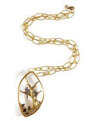 Alexis Bittar   Metallic Reliquary Pendant Siyabona Large Chain Necklace   Lyst