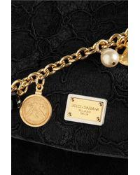 Dolce & Gabbana - Black Mini Miss Sicily Pythontrimmed Brocade Bag - Lyst