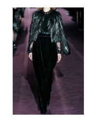 Gucci   Black Pailletteembellished Tulle Blouse   Lyst