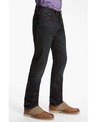 John Varvatos | Blue Bowery Slim Straight Leg Jeans Ink for Men | Lyst