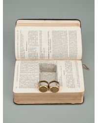 Munoz Vrandecic - Metallic Double Ring for Men - Lyst