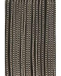 TOPSHOP - Black Chain Fringed Box Bag - Lyst