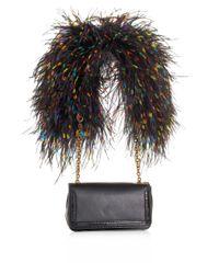 Christian Louboutin   Black Artemis Ostrich Feather Shoulder Bag   Lyst