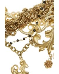 Dolce & Gabbana | Goldplated Glass Pearl Necklace | Lyst