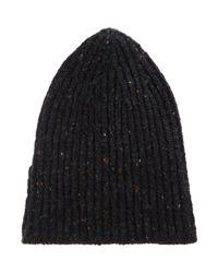Inis Meáin - Black Donegal Ribbed Hat for Men - Lyst