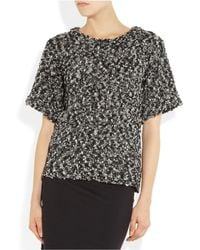 See By Chloé | Black Lace Long-sleeved Top | Lyst