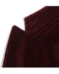 Dolce & Gabbana - Purple Washed Velvet Blazer for Men - Lyst