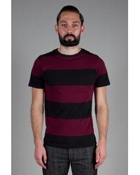 Saturdays NYC | Purple Randall Block Stripe T-Shirt for Men | Lyst