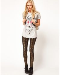 ASOS Collection   Gray T-Shirt with Mosaic Wolf   Lyst
