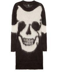 McQ Alexander McQueen   Black Mohair Skull Tunic Sweater   Lyst