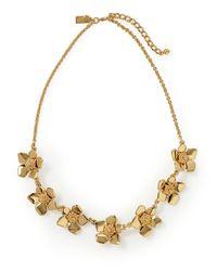 Kate Spade | Metallic Bloom Spot Necklace | Lyst