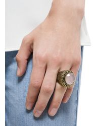 Mango - Pink Touch Stone Embossed Ring - Lyst