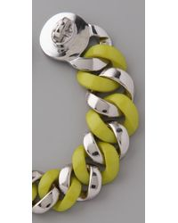 Marc By Marc Jacobs - Yellow Turnlock Katie Bracelet - Lyst