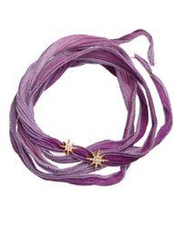 Mizuki | Purple Double Star Wrap Bracelet | Lyst