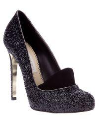Stella McCartney | Black Glitter High Heels | Lyst