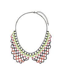 TOPSHOP - Multicolor Fluro Peter Pan Necklace - Lyst