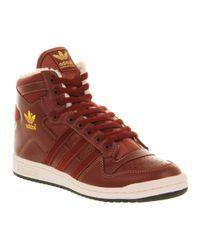 Adidas Decade Hi Og Mars Red Leather Sheerling for men