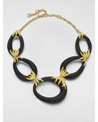 Alexis Bittar | Black Lucite Link Necklace | Lyst