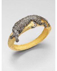 Alexis Bittar | Metallic Jeweled Panther Bracelet | Lyst