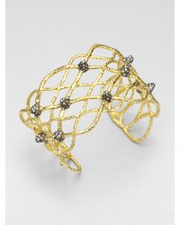 Alexis Bittar | Metallic Woven Cuff Bracelet | Lyst