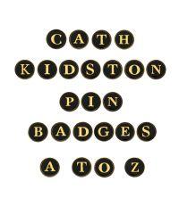 Cath Kidston | Black Cath Kidston Alphabet Letter Pin Badge | Lyst