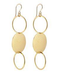 Devon Leigh - Metallic Golddipped Chain Earrings - Lyst