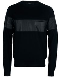 Givenchy   Black Long Sleeve Sweater for Men   Lyst