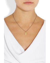 Ileana Makri | Metallic Fatima 18karat Gold and Diamond Necklace | Lyst