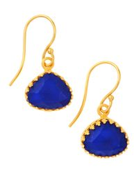 Kevia | Blue Lapis Drop Earrings | Lyst