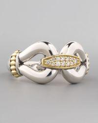 Lagos | Metallic Pave Diamond Derby Ring Gold | Lyst