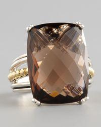 Lagos | Metallic Silver Prism Ring Smoky Topaz | Lyst