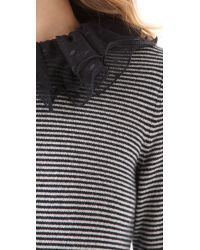 Marc By Marc Jacobs - Gray Sonia Striped Cashmere Sweater - Lyst