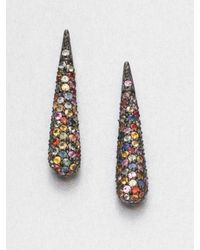 M.c.l  Matthew Campbell Laurenza | Multicolored Sapphire & Sterling Silver Drop Earrings | Lyst
