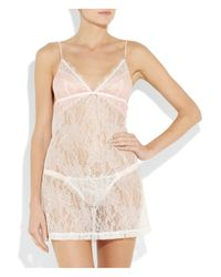 Mimi Holliday by Damaris   White Blossom Lace Chemise   Lyst