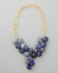 Devon Leigh | Blue Sodalite Necklace | Lyst