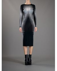 Gareth Pugh   Black Striped Fitted Dress   Lyst