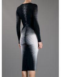 Gareth Pugh | Black Striped Fitted Dress | Lyst