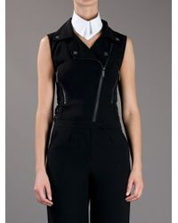 Karl Lagerfeld - White Pointed Collar - Lyst