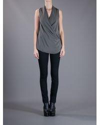 Victoria Beckham | Green Sleeveless Draped Top | Lyst
