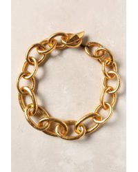 Anthropologie | Metallic Burnished Chain Link Necklace | Lyst
