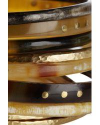 Ashley Pittman - Brown Bamba Set Of Ten Horn and Bronze Bangles - Lyst