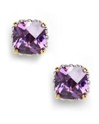 BaubleBar - Purple Amethyst Cushion Cut Studs - Lyst