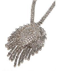 BaubleBar | Metallic 'spade' Y-chain Necklace | Lyst