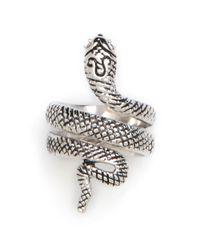 BaubleBar | Metallic Silver Snake Ring | Lyst