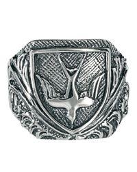 Zoe & Morgan - Metallic Engraved Swallow Ring - Lyst