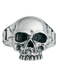 Zoe & Morgan - Metallic Johnny Skull Ring - Lyst