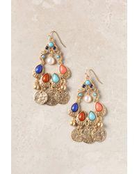 Anthropologie | Multicolor Golden Age Earrings | Lyst